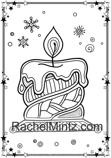 Large Print Christmas - Easy Adult Coloring Book For ...
