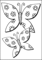 Large Print Butterflies - Beautiful Clear Bold Butterfly Lines and Patterns, (Printable Format) Coloring Book