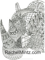 Mandala Animals - Intricate Anti Stress Coloring Book, Detailed Relaxing Patterns (Digital Book)
