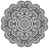 Mandala For Life - Seamless Relaxing Therapy Coloring Book