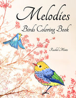 Melodies - Garden & Forest Birds Coloring For Adults