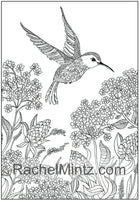 Melodies - Garden & Forest Birds PDF Coloring Book For Adults