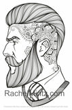 Men - Male Portraits of Handsome Guys Coloring Book