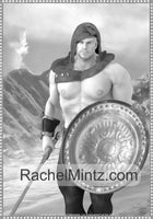 Muscular Warriors - 35 Massive Well Built Fantasy Soldiers, Gladiators &, Knights, Printable Format Coloring Book