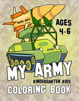 My Army Military coloring book for kids - Rachel Mintz