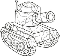 My Army - Coloring (PDF Book) Kindergarten Kids Ages 4-6