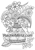 My Flowers Bouquet Coloring Book - Vases & Pots With Beautiful Summer Flowers For Relaxation (PDF Book)
