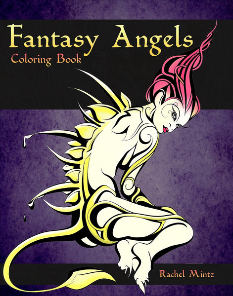 Fantasy Angels - Mystical Beautiful Divine and Demonic Women (Mild Nudity) PDF Coloring for Adults 21+