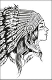 Native American Beauty Coloring Book With Gorgeous Native Indian Girls Rachel Mintz