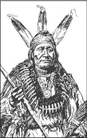 Native American Indians Coloring Book - Portraits, Chief Headdress Coloring Book Rachel Mintz