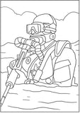 Navy SEALS Military Coloring Book For Ages 8+