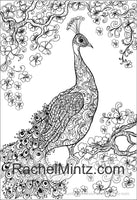 Peacocks - Brilliant Birds Peacock's Train Feathers Coloring (PDF Book)