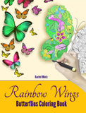 Rainbow Wings - Butterflies and Flowers Coloring For Adults