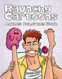 Raunchy Cartoons - Adults Coloring Book, Funny, Dirty, Naughty Easy to Color (Digital Book)
