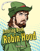 Robin Hood - Medieval Archery, Middle Ages Figures in Pop Art Style (Printable Format - Coloring Book)