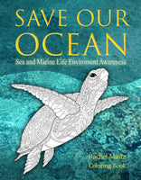 Save Our Ocean - Sea & Marine Life Environment Awareness PDF Coloring Book
