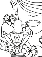 Scoops PDF Coloring Book - Thick Lines, Clear Patterns For Seniors or Visually Impaired