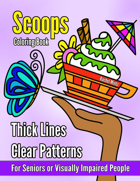 Large Print Coloring Book for Seniors Visually Impaired - Rachel Mintz