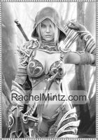 Sexy Fantasy Warriors - Alluring Women In Minimal Exotic Outfits For Adults (Age 21+) Grayscale Printable Coloring Book