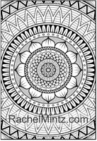 Shanti Mandala - Ethnic Anti Stress Designs Coloring Book Rachel Mintz