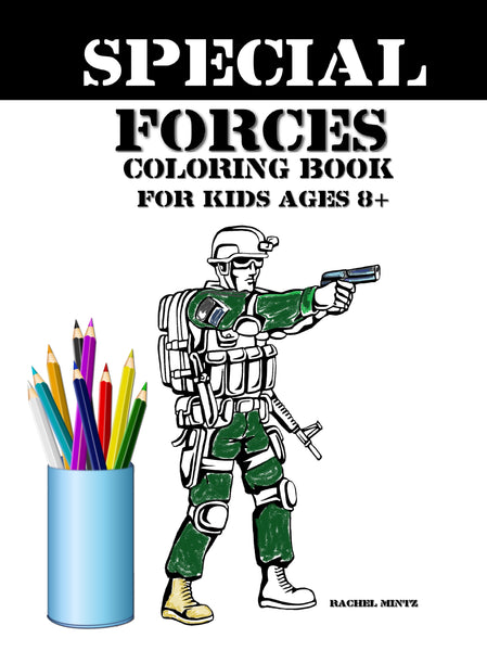 Special Forces Coloring (PDF Book) For Kids Age 8+