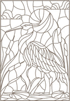 Birds Kingdom - Stained Glass Art Patterns of Beautiful Parrots, Peacock, Hummingbird, Owls - PDF Book