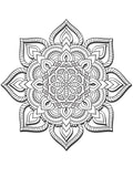 3D Mandala - PDF Coloring Book For Adults