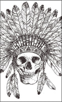 The Chief Of Skulls Coloring (PDF Book) - 30 Native American Skulls With Headdress