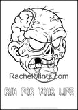 The Zombies Coloring Book - Crawling Zombie Apocalypse, Twisted Walking Figures (Printable Format)