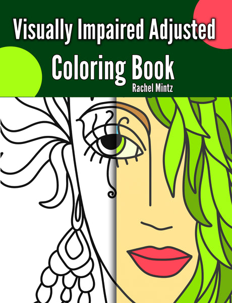 Visually Impaired Abstract Beauty Faces - Easy Coloring Book For Beginners