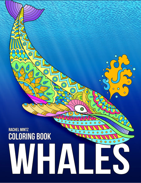 Whales - Magnificent Blue Whales In Relaxing Anti Stress Designs