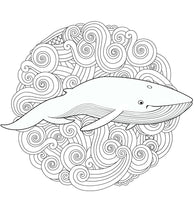 Whales - Magnificent Blue Whales In Relaxing Anti Stress Designs (PDF Book)
