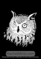 Wild Nature - Grayscale Art, Black Background Coloring Book Rachel Mintz