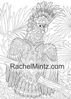 ZEN Wildlife Animals – Relaxing Coloring Book With Detailed Zentangle Patterns of Birds, Animals, Marine Life & Nature. Printable Book