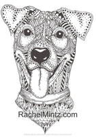 Mandala Dogs Coloring (PDF Book) - Relaxing Cute Ornamental Dog Breeds