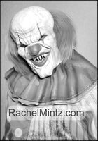 Zombie Horror - Grayscale Malice Monsters, Killer Clowns & Nightmare Demons (PDF Format) Halloween Coloring Book