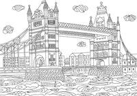 Europe Vacation - Landmarks, Sightseeing Monuments - Rome, London, Paris, Amsterdam Coloring Book
