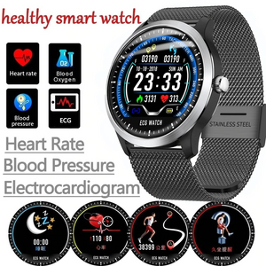 2019 ECG SmartWatch with Blood Pressure PPG & Heart Rate Monitor, IP68 Waterproof for Swimming, Fitness Tracking & Sport Monitoring