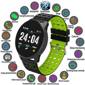 2019 SmartWatch with Heart Rate, Blood Pressure & Sleep Monitor - Waterproff Sports SmartWatch for Men or Women
