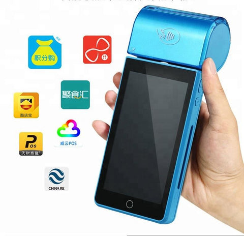 "All-in-One 5.5"" Android SmartPOS - 4G Wifi Handheld POS terminal & printer"