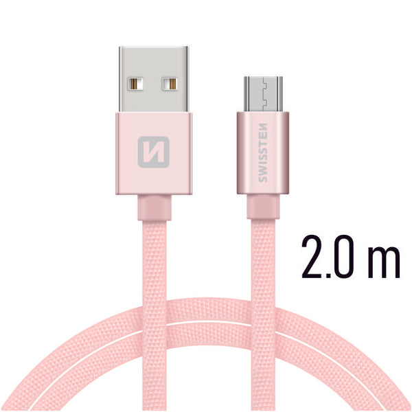Swissten 1.5 m Data Cable USB to Micro USB Plug (Grey)