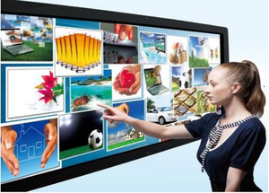 "All-in-One 110"" Touchscreen 4K HDTV SmartBoard with Windows 10 PC for Video Meeting, Business, Design & Education"
