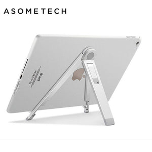 Aluminum Adjustable Tripod Anti-Slip Tablet Holder Stand - Holds easily your ipads, tablets or big phones