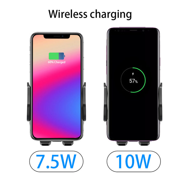 Qi AirVent Wireless Quick Charger with Infrared Sensor and Holder for iPhone & Android Smartphones