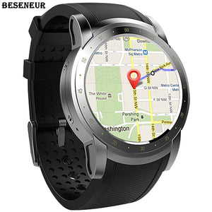 "1.39"" Android 5.1 Bluetooth 3G Nano-SIM SmartWatch with Google Maps, Fitness Tracker, Pulse Heart Rate & Sleep Sensor, Push Notifications & Calendar functions, Anti-lost for Android and iPhone"