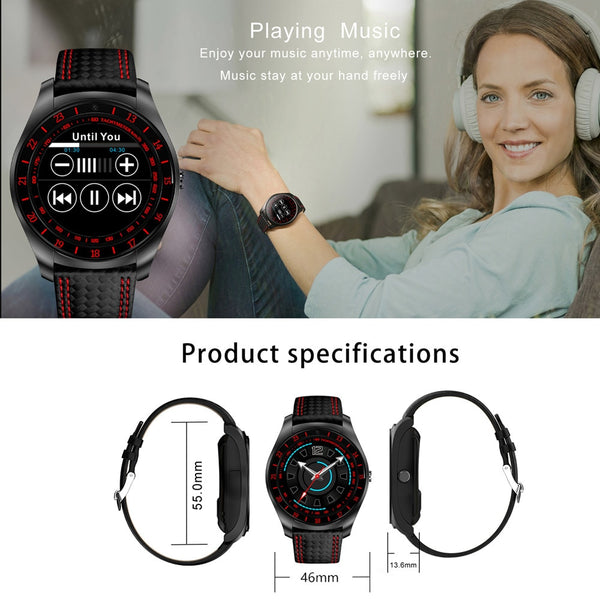 "1.22"" Bluetooth SIM SmartWatch with Pedometer, Heart Rate Monitor for sports and leisure"