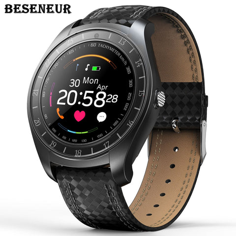 "1.22"" Beseneur SmartWatch with Pedometer, Heart Rate Monitor, SIM Card, Camera, Bluetooth and Wearable Wristband"