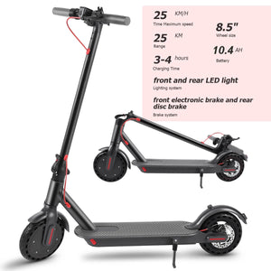 M365 PRO Foldable Electric Scooter, 350W, 30 km range, 25 km/t - Dual Brakes, Speed LCD, App Lock & Cruise Control (M365 Black)
