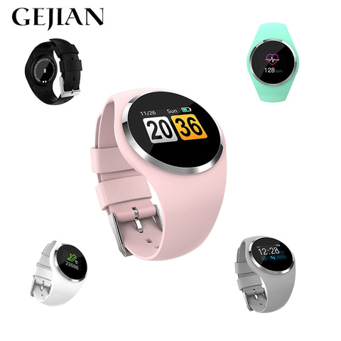 "1.0"" GEJIAN Women Waterproof Bluetooth Android SmartWatch with Heart Rate Monitor, Fitness Tracker for Android & iPhone"