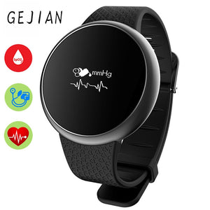 "0.66"" GEJIAN SmartWatch Wristwatch, Blood Pressure, Oxygen Heart Rate Monitor, Waterproof, Sport Pedometer, Fitness Tracker for Android and iPhone"